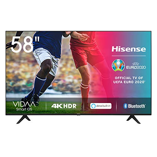 Hisense UHD TV 2020 58AE7000F - Smart TV Resolución 4K con Alexa integrada, Precision Colour, escalado UHD con IA, Ultra Dimming, audio DTS Studio Sound, Vidaa U 4.0