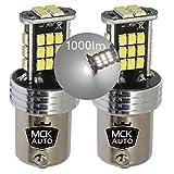 MCK Auto - Reemplazo para P21W BA15s 1156 LED CanBus Conjunto de bombillas blancas muy claras y sin errores compatibles con F20 F30
