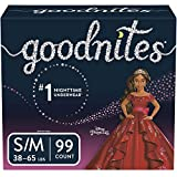 Goodnites Bedwetting Underwear for Girls, S/M (38-65 lb.), 99 Ct, Stock Up Pack (Packaging May Vary)