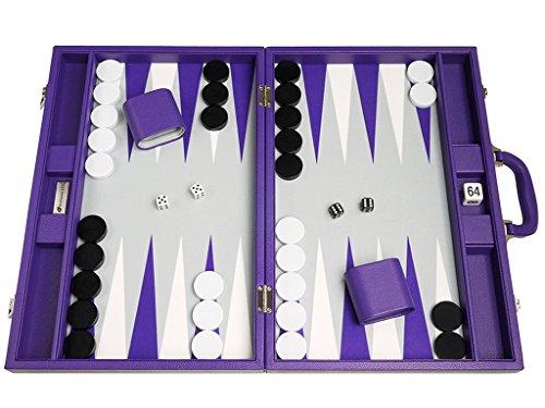 Silverman & Co. - Backgammon in Lila, Größe groß, 48 x 64 cm