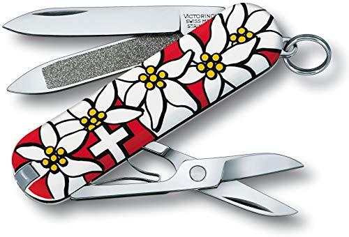 Victorinox Classic Taschenmesser (7 Funktionen, Schere, Nagelfeile mit Nagelreiniger)