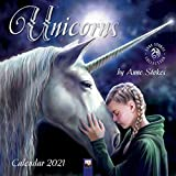 Unicorns by Anne Stokes – Einhörner von Anne Stokes 2021: Original Flame Tree Publishing-Kalender [Kalender] (Wall-Kalender)