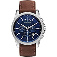 Armani Exchange Chronograph Brown Leather Men's Watch