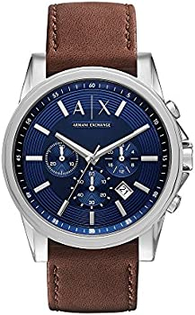 Armani Exchange Chronograph Brown Leather Men's Watch