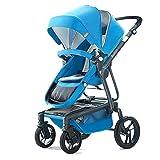 Unbekannt Kinderwagen Können Sich Hinsetzen, Faltendes Hohes Landschaftslicht (Rosa/Blau / Marineblau) Babykind Schieben Kinderwagen (Farbe : Blau)