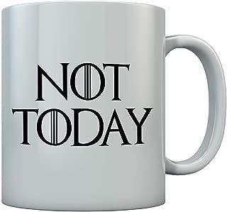 Tstars - Not Today Ceramic Coffee Mug 11 Oz. White