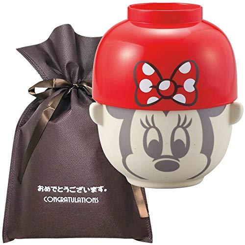 【おめでとうございますギフト】 汁椀・茶碗セット 大(ミニーマウスリボン)【L】