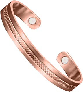 Copper Plated Rose Gold Magnetic Therapy Bracelet - for Arthritis and Carpal Tunnel Pain Relief - Copper Bracelet for Women