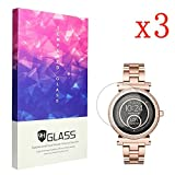 Ceston 9H Protection Ecran En Verre Trempé Pour Michael Kors Smartwatch Sofie (3 Pack)