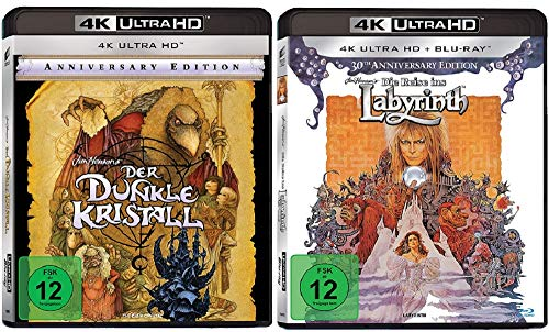 Der dunkle Kristall + Die Reise ins Labyrinth [4K Ultra HD Blu-ray Set]
