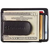 Alpine Swiss RFID Dermot Money Clip Front Pocket Wallet For Men Leather Comes in a Gift Box Brown