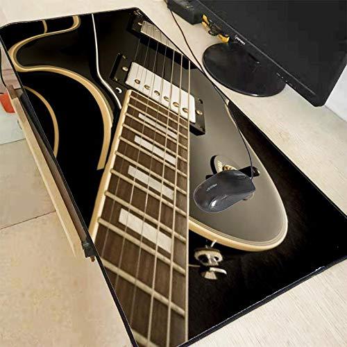 Laptop Tischunterlage Gitarren Musik Muster Mauspad Schreibtisch Laptop Gummi Große Mauspad Büro Gamer Soft Lock Edge Gaming Mauspad 400X700X2 Mm