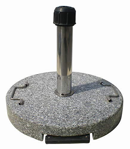 Primaster TrendLine Granit Schirmständer mit Rollen 50cm Sonnenschirmständer Granitständer
