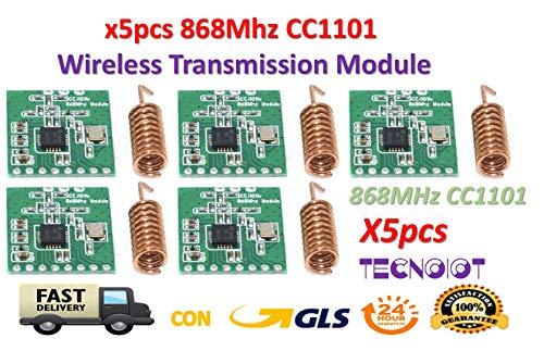 TECNOIOT 5pcs CC1101 868MHz Wireless Module Long Distance Transmission with Antenna