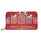 長財布 本革 レディース 二つ折り クリスマス 赤 プレゼント リボン 節分 財布 メンズ 大容量 小銭入れ カード入れ お札入れ ウォレット ファスナー 人気 プレゼント かわいい おしゃれ スマホ入れ可