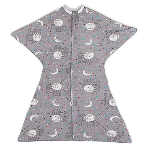 Bebé con cremallera para dormir con cremallera para dormir con cremallera y pijama para bebé con cremallera para dormir en buenas noches, pijama y mono (grande, 25-35 libras, 83-94 cm, Goodnight Moon)