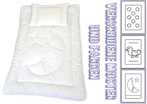 TM Maxx Babyset Kinderdecke Bettdecke Baby Set Steppbett und Kissen • Decke 100x135cm • Kissen 40x60cm • 6 wunderschöne Motive zur Auswahl