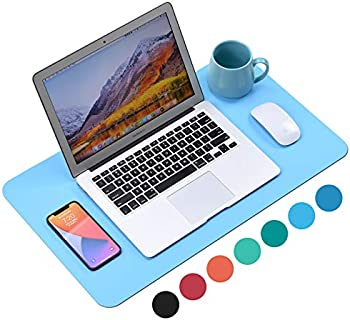 WAYBER 23.6 x 13.7 Inch PU Leather Waterproof Desk Pad