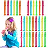 THE TWIDDLERS 45 Mini Flutes Whistle Recorders | Children Birthday Loot Bag | Pinata Toys Favours | Christmas Party Bags Filler for Kids