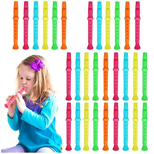 45 Flauta De Plastica Para Niños | Gran Instrumento Más Pequeños Música Principiantes | Varios Modelos Y Colores | Rellenar Piñatas Bolsas Regalo Fiestas Cumpleaños Infantiles Del Partido Favor