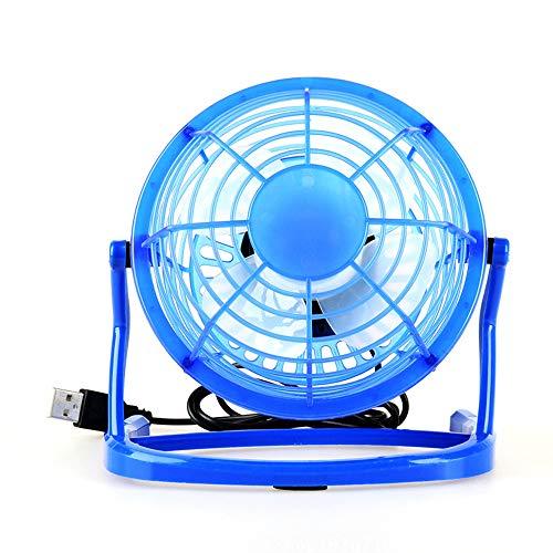 Xiaolan Ventilador pequeño, 10,4 cm para el hogar, estudiante, dormitorio, USB, pequeño ventilador de escritorio, ventilador silencioso, adecuado para colocar escritorio (negro)
