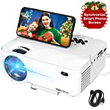 Mini Projector, TOPVISION Projector with Synchronize Smart Phone Screen,1080P...