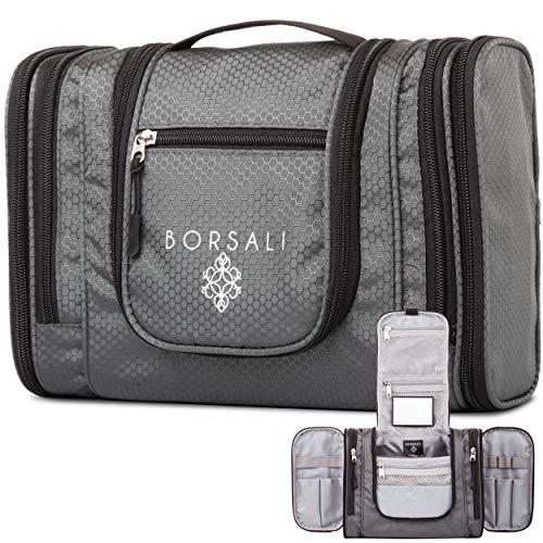 Hanging Toiletry Bag for Women & Men -Borsali - Makeup &...