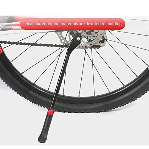 VOANZO Portabiciclette MTB in Lega di Alluminio Portabiciclette Parcheggio Portabiciclette Supporto per Mountain Bike Cavalletto Laterale Supporto per Piede Nero