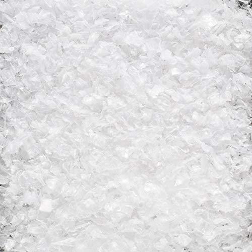 DEKOSCHNEE GROB. 4 Liter. Kunststoff Schneeflocken Deko Schnee Kunstschnee. Weiss