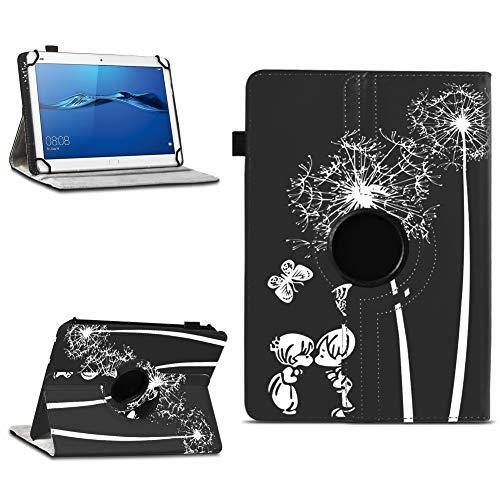 NAmobile Schutzhülle kompatibel für Huawei MediaPad T1 T2 T3 T5 10 Tablet Hülle Tasche Schutzhülle Hülle 360 Drehbar, Farben:Motiv 9