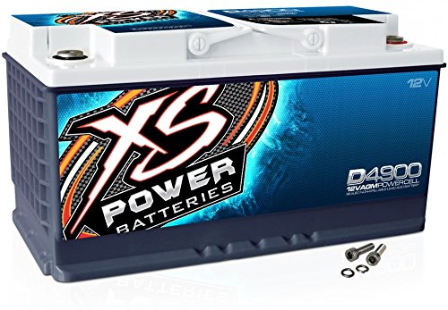 XS Power D4900 12V BCI Group 49 AGM Battery (Max Amps 4,000A, CA: 1075 Ah: 80, 3000W / 4000W)