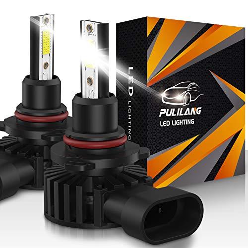 Pulilang Bombillas de Faros LED 9005 HB3 Led Luz de Coche 60W 12000LM Súper Brillante Impermeable Faros Conversión Temperatura de color 6500K IP65 Paquete de 2