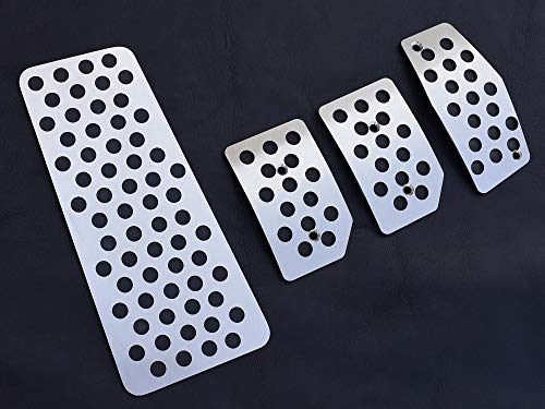 Pedales e Reposapiés De Acero para Alfa_Romeo MITO – 4 Piezas Kit Manual Inox Metal Pedal De Embrague Freno Acelerador Cepillado Interior Personalizados