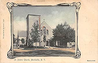 St Peters Church Monticello, New York, Postcard