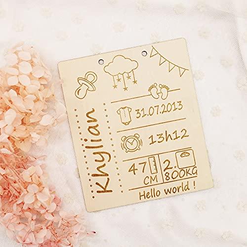 Geboortekaartje Sign, Nursery Naam Log, Geboorte, pasgeboren meisje Baby, pasgeboren baby Boy, Decor van het Kinderdagverblijf
