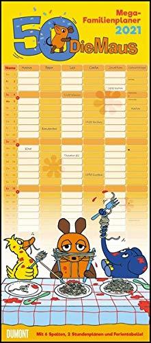 Die Maus 2021 – DUMONT Mega-Familienkalender mit 6 Spalten – Familienplaner mit 2 Stundenplänen und Ferientabelle – Hochformat 30,0 x 68,5 cm: Zur Sendung mit der Maus