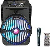 Altavoz karaoke con micrófono Bluetooth portátil recargable alta potencia Reproductor...