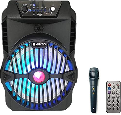 Altavoz karaoke con micrófono Bluetooth portátil recargable alta potencia Reproductor Radio FM MP3 USB SD Card (N4807)