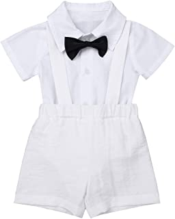 Best baby boy white shorts with suspenders Reviews