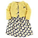 Hudson Baby Girls' Cotton Dress and Cardigan Set, Daisy, 9-12 Months
