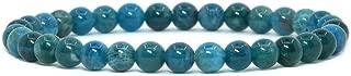 Gem Semi Precious Gemstone 6mm Round Beads Stretch Bracelet 6.5 Inch