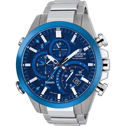 CASIO Herren Chronograph Solar Uhr mit Edelstahl Armband EQB-501DB-2AER
