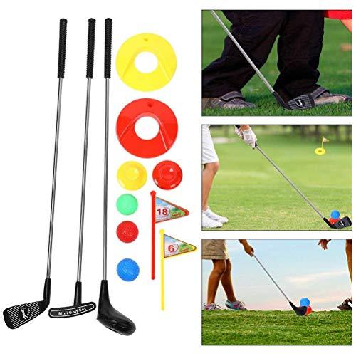 HEREB Kinder-Golfspielzeug-Set, 10-teilig, tragbares Mini-Golfschläger-Spielzeug, Outdoor-Spiel, Lernen, Putting, Golf für Vorschulkinder