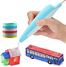 3D Pen Dolphin, low temperature PCL 3d printing pen with 1.75mm PC filament 2m*6pcs, USB charge, built-in battery, great g...