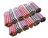 Perfect for drying dishes, cleaning counter tops, mirrors, tables, windows, cars, etc. Washable for dozens of reuses Available in an assortment of lively colors Extra absorbent, 100% cotton Package contents - 12 Pc Large Size Cloth Napkin for Kitchen...