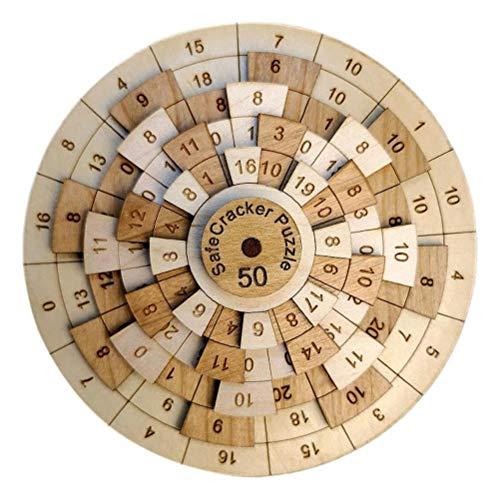 Crounuas Quebra-cabeça de madeira 3D, quebra-cabeça de números, quebra-cabeça de matemática, jogo de matemática STEM Montessori educação de madeira, brinquedo de mesa, capacidade de pensamento lógico, desafio de brinquedo, presente de aniversário de criança