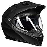 Auboa Dual Sport ATV Helmet Adult, Dirt Bike Helmet Motocross MTB Off-Road Motorcycle Helmet Women Men DOT(Matte Black,L)