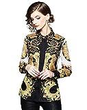 Women's Baroque Print Shirt Regular Fit Long...