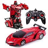 Transforming Toys 2 in 1 Telecomando Trasforma Auto RC Car per Bambini Deformazione Robot Giocattoli Auto per Ragazzi Età 3-12 Trasformazione RC Veicolo Giocattolo Telecomando Auto per Ragazzi 3-5