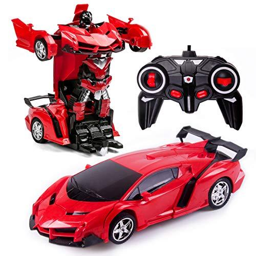 Transformers Toys 2 in 1 Fernbedienung Transformator Auto RC Auto für Kinder...
